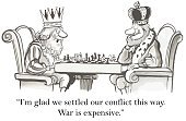 King,Chess,Humor,Government,negotiator,Intelligence,Cartoon,Thinking,Mediation,Army,Human Brain,Ideas,Winning,Leisure Games,Agreement,Talking,Personal Perspective,Sport,Recreational Pursuit,Leisure Activity,Navy,Leadership,Solution,Manager,War,Discussion,Determination,Conflict,Politics,Variation,Loss,Vector,Men
