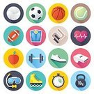 Flat,Symbol,Healthcare And Medicine,Gym,Computer Graphic,Jogging,Design,Long,Shadow,Style,Scale,Diving,Weights,Tennis,Rope,Simplicity,Exercising,Frequency,Sign,Dumbbell,Ilustration,Shoe,Skate,Whistle,Roller Skating,Set,Basketball,Competition,Sport,Apple - Fruit,Vector,Soccer,Snorkeling,Ball,Design Element,Instrument of Time,Pulse Trace,Snorkel,Face Guard - Sport,Single Object,Volleyball,Modern,Football,Basketball - Sport,Stopwatch,Heart Shape,American Culture