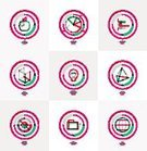 Symbol,Business,user,Connection,Vector,Application Software,Global Communications,Graph,UI,Sparse,Outline,Fruit,Chart,Infographic,Geometric Shape,Wheel,Collection,Sign,Branding,Insignia,Purple,Label