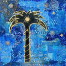 Collage,Tropical Climate,Turquoise,Ilustration,Palm Tree,Paintings,Gold Colored,Painted Image,Art,Ornate,Acrylic Painting,Art Product,Arts Backgrounds,Visual Art,Arts Symbols,Arts And Entertainment,Colors,Blue,Individuality