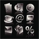 Internet,Icon Set,Design,Symbol,Page,Coffee - Drink,Iconset,Book,Business,Black Color,Computer,E-Mail,Sign,Finance,Clock,Communication,Design Element,Reflection,Mail,Vector,Document,Global Communications,Ilustration,Illustrations And Vector Art,Business,Vector Icons