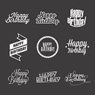 Birthday,Text,Letterpress,Old-fashioned,typographic,editable,Group of Objects,Gift,Shape,Vector,Anniversary,Sign,Kids - Charity Organization,Typescript