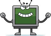 Metal,Ilustration,Computer Graphic,Computer Monitor,Robot,Vector,Square Shape,Evil,Computer,Furious,Displeased,Anger,boxy,Clip Art,Cartoon,Television Set