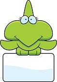 Dinosaur,Computer Graphic,Cheerful,Clip Art,Cartoon,Animal,Young Animal,Happiness,Holding,Sign,Smiling,Vector,Pterodactyl,Perching,Ilustration,Small,Wing