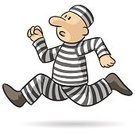 Sentencing,detained,Competition,Prisoner,Runaway,Sadness,Escape,Running,Vector,Freedom,Criminal,Design,Worried,Ilustration,Striped,Isolated,Male,Cartoon,Sharing
