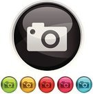 Camera - Photographic Equipment,Photography,Photographing,Religious Icon,Symbol,Photograph,Badge,Computer Icon,Digital Camera,Shiny,Black Color,Computer Graphic,Interface Icons,Circle,Vector,Design,template,Curve,Clip Art,Ilustration,Pink Color,Simplicity,Silver Colored,Yellow,Internet,Red,Concepts,Reflection,Green Color,Ideas,Design Element,Vector Icons,Blue,Technology Symbols/Metaphors,Technology,Illustrations And Vector Art,Technology,Style,Electronics