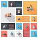 Backgrounds,Ilustration,Symbol,Business,Vector,UI,template,Transportation,Airplane,Air,Commercial Airplane,Hot Air Balloon,Land Vehicle,Train,Car,Bus,Motorcycle