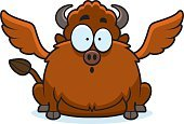 Fear,Ilustration,Surprise,Vector,Wing,Computer Graphic,Clip Art,European Bison,American Bison,Buffalo Chicken Wings,Cartoon,Animal