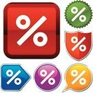 Percentage Sign,Interest Rate,Religious Icon,Push Button,Interface Icons,Sign,Symbol,Vector,Computer Icon,Series,Shape,Design,Metallic,Red,Shiny,Geometric Shape,Ilustration,Orange Color,Illustrations And Vector Art,Simplicity,Finance,Blue,Green Color,Silhouette,White,Vector Icons,Yellow,Sparse,Purple