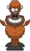 Buffalo Chicken Wings,Happiness,Cheerful,Cartoon,Smiling,Vector,Wing,Ilustration,American Bison,Animal,European Bison,Clip Art,Computer Graphic
