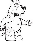 Smiling,Pointing,Spotted,Vector,Wildlife,Laughing,Ilustration,Cartoon,Cheerful,Happiness,Hyena,Animal