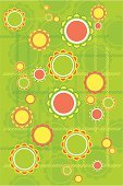 Summer,Circle,Backgrounds,Computer Graphic,Springtime,Yellow,Floral Pattern,Abstract,Wallpaper Pattern,Vector,Ilustration,Ornate,Shape,Decoration,Vector Ornaments,Nature Backgrounds,Illustrations And Vector Art,Orange Color,Nature,Pattern,Colors,Green Color,Botany,Image,Nature,Design,Vector Backgrounds