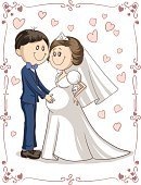 Couple,Two Parents,Wedding,Bridegroom,Drawing - Art Product,Men,Valentine Card,Drawing - Activity,Bride,Announcement Message,Cute,Romance,Husband,Ilustration,Love,Engagement,Married,Happiness,Young Adult,Invitation,template,Cartoon,Doodle,Cheerful,Wife,Father,Heterosexual Couple,Baby,Greeting Card,Human Pregnancy,Mother,Valentine's Day - Holiday,Human Hand,Caricature,Parent,Justice - Concept,Vector,Characters,Family,Design,Women,Newlywed