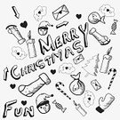 Collection,Backgrounds,Doodle,December,Typescript,Christmas,Gray,Candy,Gift,Christmas Tree,Sock,Speech Bubble,Christmas Ornament,Santa Cap,Decoration,Winter,Holiday,Greeting,Christmas Decoration,yuletide,Heart Shape,Candle,Elegance,25 December,Envelope,Snowman,Fun
