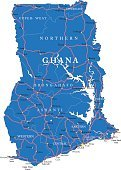 City,Journey,Road,Africa,Ghana,Map,Silhouette,Atlantic Ocean,Backgrounds,Outline,Geographical Border,Illustration,No People,Vector,Travel,Accra,Cartography,Lake Volta,2015,Cartography,Continent,Country - Geographic Area