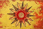 Sun,Art,Symbol,Paintings,Painted Image,Abstract,Art Product,Collage,Acrylic Painting,Ilustration,Arts Symbols,Arts Abstract,Visual Art,Colors,Gold Colored,Individuality,Arts And Entertainment