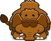 Cartoon,Clip Art,Computer Graphic,Bedtime,Young Animal,Tusk,Animal,Sleeping,Cheerful,Happiness,Resting,Smiling,Tired,Napping,mastodon,Ilustration,Small,Mammoth,Vector