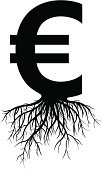 European Union Currency,Euro Symbol,Root,Currency,Growth,Silhouette,Making,Finance,Sign,Plant,Making Money,Business,Vector,Home Finances,Symbol,Black And White,Investment,Black Color,Savings,Ilustration,Bank Account,Focus on Shadow,Back Lit,economic growth,Computer Icon,Wealth,Isolated,Shadow,Monochrome,Isolated On White