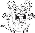 Beastly - Film Title,Cartoon,Clip Art,Animal,Anger,Vector,Displeased,Furious,Unhygienic,Animal Saliva,Rat,Rodent,Unpleasant Smell,Mouse,Ugliness,Computer Graphic,Ilustration,Grotesque,Pest