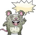 Unhygienic,Animal Saliva,Computer Graphic,Clip Art,Cartoon,Pest,Animal,Beastly - Film Title,Ideas,Ilustration,Unpleasant Smell,Talking,Vector,Rodent,Rat,Grotesque,Ugliness,Mouse,Speech Bubble