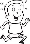 Running,Jogging,Vector,Child,Childhood,Playing,People,Cartoon,Exercising,Ilustration,One Person,Little Boys
