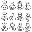 Silhouette,Computer Icon,Doctor,Symbol,Police Force,People,Human Face,Set,Human Head,Occupation,Sailor,Male,Female,Musician,Ilustration,Portrait,user,Single Line,Vector,Chef,Postal Worker,Photographer,Modern,Manual Worker,Artist,Construction Worker,Clip Art,Simplicity,Social Issues,Waiter,Avatar,Design Element,Image,Communication,Cartoon,Design,Group Of People,Black Color