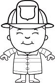 Occupation,Military Invasion,Ilustration,One Person,People,Child,Vector,Smiling,Hat,Happiness,Clip Art,Cartoon,Little Boys,Firefighter's Helmet,Firefighter,Cheerful,Computer Graphic,Childhood