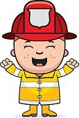Ilustration,Hat,Happiness,Cheerful,Occupation,One Person,Child,Smiling,People,Computer Graphic,Firefighter,Cartoon,Little Boys,Vector,Celebration,Clip Art,Firefighter's Helmet,Excitement,Ecstatic,Childhood