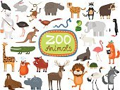 Animal,Cute,Vector,Cartoon,Collection,Toy,Multi Colored,Set,Elephant,Isolated,Rabbit - Animal,Characters