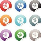 CD,Label,Religious Icon,Green Color,Single Object,Curled Up,Peeling,Computer Icon,Symbol,Objects/Equipment,web icon,Curve,Black Color,White Background,Red,Shiny,Interface Icons,Illustrations And Vector Art,Vector Icons,Blue,Gray,Multi Colored,Purple,Orange Color,Circle