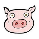 Doodle,Drawing - Activity,Cultures,Ilustration,Clip Art,Cheerful,Human Face,Farm,Comic Book,Spotted,Pig
