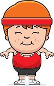 Sweat Band,Exercising,Sport,Computer Graphic,Relaxation Exercise,Clip Art,Child,Tank Top,Little Boys,Cartoon,Gym,Cheerful,Smiling,Vector,Childhood,Redhead,People,Headband,Ilustration,One Person,Happiness
