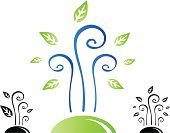 Family,Human Fertility,Tree,Symbol,Sign,Life,New,Green Color,Lifestyles,Spiral,Plant,Nature,Bud,Modern,Leaf,Singing,New Life,Flower,Black Color,Branch,Concepts,Ideas,Vector Florals,Springtime,Nature,Illustrations And Vector Art,Plants,Nature Symbols/Metaphors