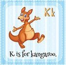 Lifestyles,Animal,Wildlife,Clip Art,Mammal,phonic,Kangaroo,Childhood,Elementary Age,linguistic,Computer Graphic,Ilustration,Single Word,Education,Preschool,Letter K,Spelling,Learning,Alphabet,Face Card,Flash Card,Vector