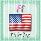 Elementary Age,Preschool,phonic,Clip Art,linguistic,Flag,Patriotism,USA,Symbol,Computer Graphic,Ilustration,Single Word,Education,nation,Spelling,Learning,Alphabet,Face Card,Flash Card,Vector