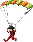 Flying,Hobbies,Activity,Action,Strength,Vector,Close-up,Fun,Parachuting,White Background,Clip Art,Men,Sport,Sports Clothing,Skydiving,Computer Graphic