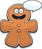 Ilustration,Happiness,Vector,Talking,Dialogue Balloon,Speech Bubble,Cheerful,Smiling,Food,Cookie,Dessert,Cartoon,Computer Graphic,Clip Art,Gingerbread Man