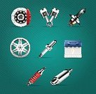 Computer Graphic,Vehicle Part,Alloy,Car,Sponge,Repairing,Exhaust Pipe,Transportation,Isolated,Brake,Land Vehicle,Vector,Spark,Change,Business,Piston,Light Bulb,Battery,Service,Lighting Equipment,Data,Ilustration,Mechanic,Electric Plug,Set,Surrogate,Symbol,Engine,Wheel,Sign,Technology,Medical Exam,Part Of,Design Element,Presentation