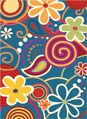 Flower,Seamless,1960s Style,Computer Graphic,Retro Revival,Art,Backgrounds,Springtime,Floral Pattern,Swirl,Modern,Summer,Funky,Wallpaper Pattern,Circle,Sketch,Multi Colored,Leaf,Vector,Abstract,Design Element,Outline,Paintings,Freshness,Nature,Scroll Shape,Beauty,Ilustration,Vector Florals,Shape,Vector Backgrounds,Beauty In Nature,Arts And Entertainment,Painted Image,Decoration,Yellow,Arts Backgrounds,Illustrations And Vector Art