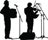 Singing,Silhouette,Music,Violin,Musical Band,Musician,Excitement,Modern,Vector,Accordion,Rock and Roll,Cheerful,Dancing,Men,Pop Musician,Party - Social Event,Popular Music Concert,People,Ilustration,Young Adult,Event,Celebration,Performance,Spectator,Performer,Audience,Catwalk - Stage,Adult,Fun,Crowd,Performing Arts Event,Music Festival,Singer,Crowded,Outline,Adulation,Nightlife