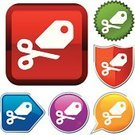 Sale,Scissors,Interface Icons,Symbol,Religious Icon,Computer Icon,Sign,Label,Push Button,Series,Vector,Geometric Shape,Red,Shape,Selling,Design,Shiny,Metallic,Sparse,White,Green Color,Simplicity,Ilustration,Vector Icons,Back Lit,Silhouette,Illustrations And Vector Art,Yellow,Purple,Orange Color,Blue