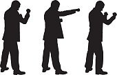 Silhouette,Boxing,Punching,Adult,Collage,Male,White,Isolated,Men,Bossy,Anger,Conflict,Fighting,Black Color,Group Of People,Set,Businessman,Standing,Strength,Suit,Ilustration,Collection,People