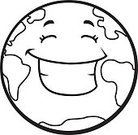 Vector,Earth,Smiling,Happiness,Ilustration,Cheerful,Environment,Cartoon,Planet - Space,Globe - Man Made Object