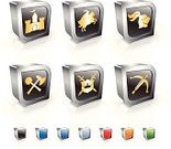 Medieval,Knight,Symbol,Fleur De Lys,Icon Set,Castle,Set,Computer Icon,Three-dimensional Shape,Horse,Old-fashioned,Shield,Crown,Gold Colored,Charging,Cross Bow,Flag,Nobility,Work Helmet,Sword,War,Weapon,Aggression,Modern,Trumpet,template,Arranging,Crossed Swords,Obsolete,Red,Blue,Insignia,Bow,Sparse,Spear,Green Color,Shiny,Reflection,Orange Color,Metal,Square Shape,Medieval Festival