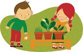 Child,Plant,Cartoon,Assistance,Watering,Ilustration,Flower Pot,Little Girls,Little Boys,Comfortable,Teenage Girls,Friendship,Vector,Cheerful,Flower,Fun,Lifestyle,Cute,Ideas,Pattern,Fantasy,Illustrations And Vector Art,Red,Vector Cartoons,Concepts,Design,Horizontal,Leisure Activity,Humor,Happiness,Green Color,Orange Color,Babies And Children