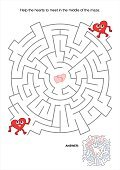 Maze,Child,Valentine's Day - Holiday,Valentine Card,Activity,Sheet,Heart Shape,Leisure Games,Puzzle,Page,Human Heart,Enjoyment,Vector,Entertainment,Discovery,Recreational Pursuit,Fun,Assistance,Leisure Activity,Hobbies,Education,Ilustration,Relaxation,Holiday,Footpath,Help,Mystery,Single Lane Road