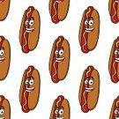 Mustard,Bread,Bun,Food,Pork,Hot Dog,Sausage,Snack,Symbol,Sandwich,Close-up,Cooking,Unhealthy Eating,Ilustration,Seamless,Dinner,Ketchup,Meal,Red,American Culture,Refreshment,Fast Food Restaurant,Barbecue Grill,Gourmet,Fat,Cartoon,Vector,Grilled