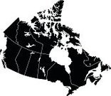 Central America,USA,North America,Vector,Navigational Equipment,Dividing,regions,state,City,Ottawa,Isolated,Toronto,Montreal,Calgary,Vancouver,Pattern,Contour Drawing,Land,Geographical Locations,View Into Land,Separation,Intricacy,Clip Art,Black And White,The Americas,Canada,Silhouette,White Background,Black Color,Backgrounds,Cartography,Map,Outline