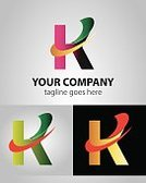 Letter K,Sign, abstract, set, clean, corporate, design, icons, new