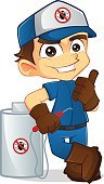 Pest,Control,Exterminator,Men,Flea,Gas,Cheerful,Equipment,Insecticide,White,Uniform,Side View,Termite,Image,Nature,Insect,Cartoon,Vector,Clip Art,Ilustration,Bug Fumigation Tent,Chemical,Male,Occupation,Destruction,Killing,People,Art,Job - Religious Figure,Characters,Computer Graphic,Holding,Spray,Toxic Substance,Design,Manual Worker,Isolated,Business